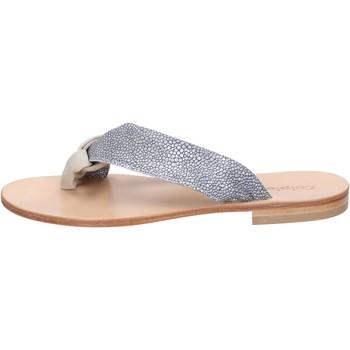 Scarpe Donna Sandali Calpierre sandali grigio camoscio beige tessuto BZ880 beige