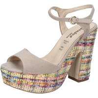 Scarpe Donna Sandali Geneve Shoes sandali beige camoscio BZ890 beige