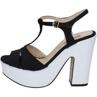 Scarpe Donna Sandali Geneve Shoes sandali nero camoscio bianco BZ897 Multicolore