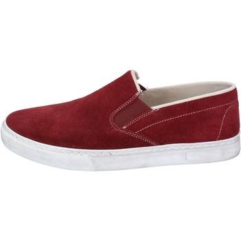 Scarpe Uomo Slip on Nyon scarpe uomo  slip on bordeaux camoscio BZ901 Rosso