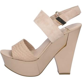 Scarpe Donna Sandali Marciano sandali beige camoscio pelle BZ430 beige