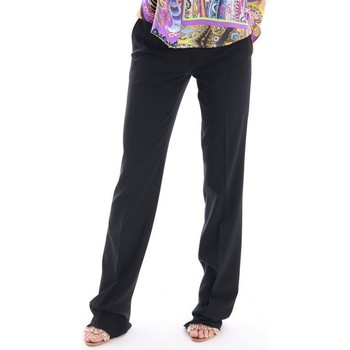 Abbigliamento Donna Pantaloni Etro PANTALONE NERO IN VISCOSA Black