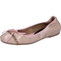 Scarpe Donna Ballerine Crown ballerine rosa cipria vernice BZ941 Rosa