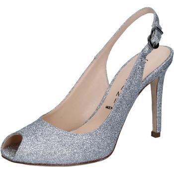 Scarpe Donna Sandali Capitini sandali argento glitter BZ492 Argento