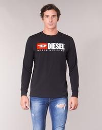 Abbigliamento Uomo T-shirts a maniche lunghe Diesel T JUST LS DIVISION Nero