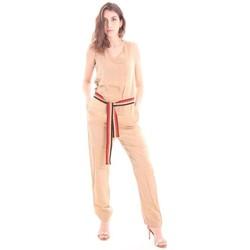 Abbigliamento Donna Tuta jumpsuit / Salopette Solotre TUTA COLOR BEIGE Beige