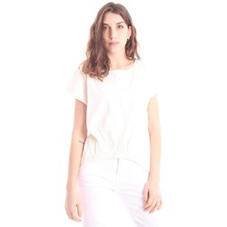 Abbigliamento Donna T-shirt maniche corte Solo Tre T-SHIRT GIROCOLLO BIANCA White