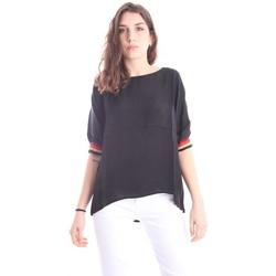Abbigliamento Donna T-shirt maniche corte Solotre CASACCA GIROCOLLO Black