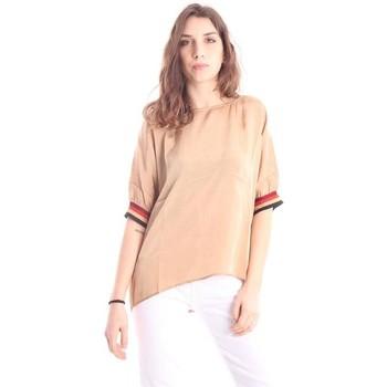 Abbigliamento Donna T-shirt maniche corte Solo Tre CASACCA GIROCOLLO Beige