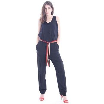 Abbigliamento Donna Tuta jumpsuit / Salopette Solotre TUTA COLOR NERO Black