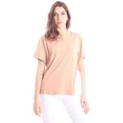 Abbigliamento Donna T-shirt maniche corte Solo Tre T-SHIRT GIROCOLLO BEIGE Beige