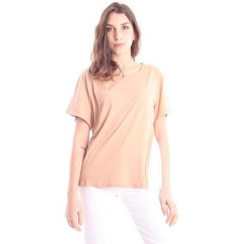Abbigliamento Donna T-shirt maniche corte Solotre T-SHIRT GIROCOLLO BEIGE Beige