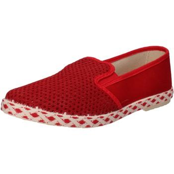 Scarpe Uomo Slip on Caffenero slip on rosso tela AE159 Rosso