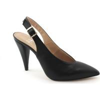 Scarpe Donna Sandali Divine Follie 7019 nero scarpe decolletè donna tacco cinturino punta chiusa Nero