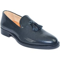Scarpe Uomo Mocassini Made In Italia scarpe mocassino nero moda classico vero cuoio eleganti cerimon NERO