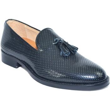 Scarpe Uomo Mocassini Made In Italy scarpe mocassino nero moda classico vero cuoio eleganti cerimoni NERO