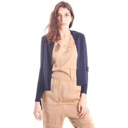 Abbigliamento Donna Gilet / Cardigan Solotre CARDIGAN BLU Blue