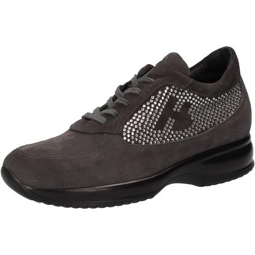 Hornet Botticelli scarpe donna  sneakers grigio camoscio strass AE480 Grigio  Scarpe Sneakers basse Donna 79