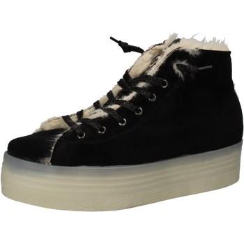 Scarpe Donna Sneakers 2 Stars sneakers nero velluto pelliccia AE614 Nero
