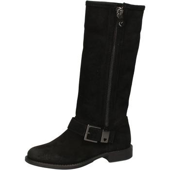 Scarpe Donna Stivali Twinset scarpe donna TWIN-SET stivali nero camoscio AE835 Nero