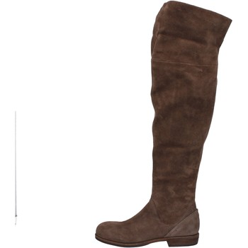 Scarpe Donna Stivali a metà coscia Vic stivali marrone camoscio AE871 marrone