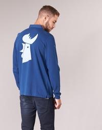 Abbigliamento Uomo Polo maniche lunghe Serge Blanco POLO France Blu
