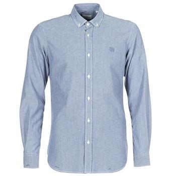 Abbigliamento Uomo Camicie maniche lunghe Serge Blanco 15 DOS Blu