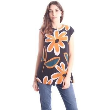 Abbigliamento Donna Top / T-shirt senza maniche Aspesi CASACCA IN SETA FANTASIA FLOREALE Multicoloured