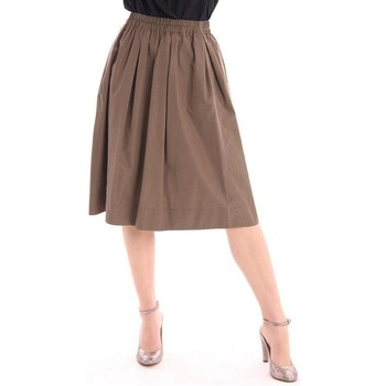 Abbigliamento Donna Gonne Aspesi GONNA MARRONE CON ELASTICO IN VITA Brown