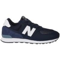 Scarpe Unisex bambino Sneakers basse New Balance GC574D4 Bianco, Blu marino