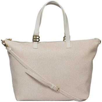 Borse Donna Tote bag / Borsa shopping Borbonese SHOPPING IN GRAFFITI Bianco