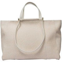 Borse Donna Tote bag / Borsa shopping Borbonese SHOPPING LARGE IN GRAFFITI Bianco
