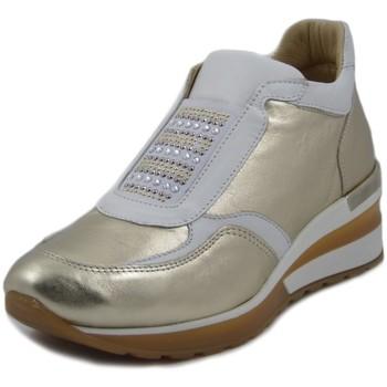 Scarpe Donna Sneakers basse Exton Slipon Platino