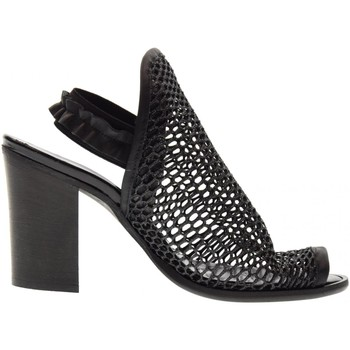 Scarpe Donna Sandali Erman's scarpe donna sandalo 145 NERO Nero