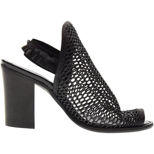 Erman's scarpe donna sandalo 145 NERO Nero - Scarpe Sandali Donna 89,00