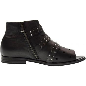 Scarpe Donna Sandali Erman's scarpe donna stivaletto spuntato WN03 NERO Nero