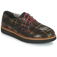 Scarpe Donna Derby Ippon Vintage JAMES SCOTTISH Nero / Rosso