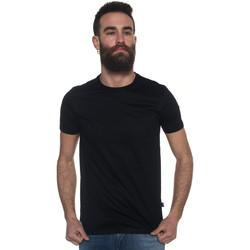 Abbigliamento Uomo T-shirt & Polo Hugo Boss T-shirt girocollo Nero Cotone Uomo nero