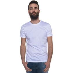 Abbigliamento Uomo T-shirt & Polo Hugo Boss T-shirt girocollo Tessler Bianco Cotone Uomo bianco