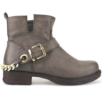 Scarpe Donna Tronchetti Francescomilano scarpe donna  stivaletti marrone pelle AJ227 marrone