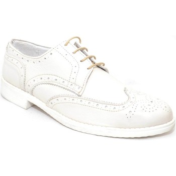Scarpe Uomo Derby Made In Italy scarpe uomo stringate vera pelle  di colore beige fondo ultraleg BEIGE