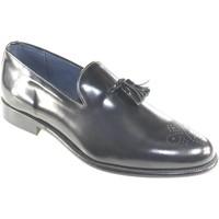 Scarpe Uomo Mocassini Made In Italia scarpe mocassino uomo nero moda classico vero cuoio eleganti ce NERO