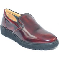 Scarpe Donna Mocassini Made In Italy Mocassino donna in pelle abrasivata bordeaux con fondo alto zigl BORDEAUX