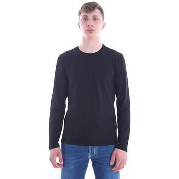 Abbigliamento Uomo T-shirts a maniche lunghe Girelli Bruni MAGLIA GIROCOLLO NERA Black