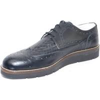 Scarpe Uomo Derby Made In Italia scarpe uomo stringate vera pelle crust nero  class NERO