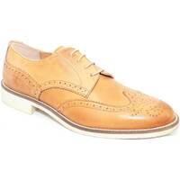 Scarpe Uomo Derby Made In Italia scarpa uomo man stringata vera pelle cuoio  moda c CUOIO