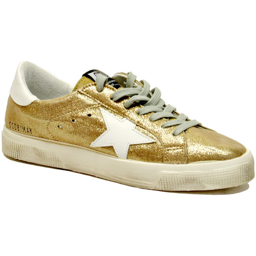 Golden Goose May Glitter Gold Oro - Scarpe Sneakers basse Donna 278,00