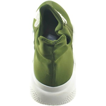 Scarpe Uomo Sneakers basse Made In Italia scarpe uomo sneakers bassa in tessuto calzino lycra verde made VERDE