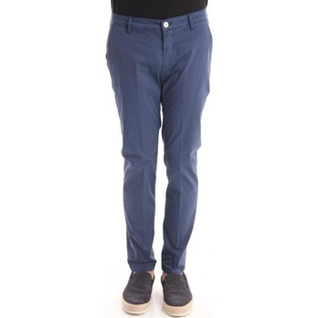 Abbigliamento Uomo Pantaloni Yan Simmon PANTALONI IN RASO BLU Blue