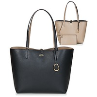Borse Donna Tote bag / Borsa shopping Lauren Ralph Lauren MERRIMACK REVERSIBLE TOTE MEDIUM Nero / Taupe